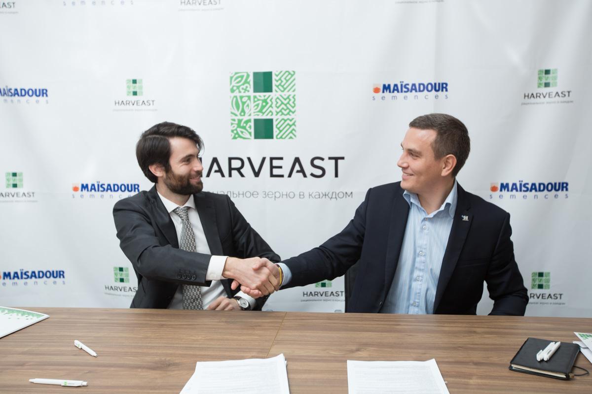 Підписання договору між компаніями HarvEast і Maisadour щодо співпраці у вирощуванні насіння соняшнику (5 квітня 2017 рік)